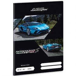 Lamborghini Aventador Roadster kék A/5 sima füzet
