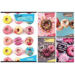 Street Donuts füzet kockás A5 több változatban