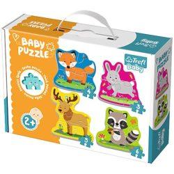Erdei állatok bébi puzzle szett - Trefl