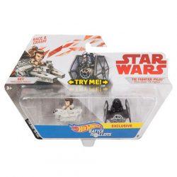 Hot Wheels - Star Wars Battle Rollers: Rey és Első Rend TIE vadász gördülő harcosok - Mattel