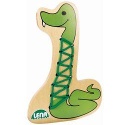 LENA: Kígyó fa fűzős játék
