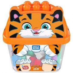 Mattel: MB Mosolygós tigris építőszett vödörben