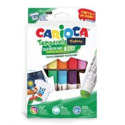 Carioca Színes textil tempera stick 10 db-os