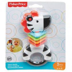 Fisher-Price: Színes zebra csörgő - Mattel