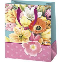 Virágok exkluzív nagy ajándéktáska 26x13x32cm