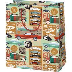 Autós nagy méretű ajándék táska