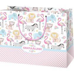 Gratulálunk! - Lányos nagyméretú ajándéktáska