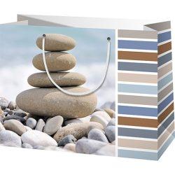 Zen kövek nagy méretű ajándéktáska 27x14x33cm