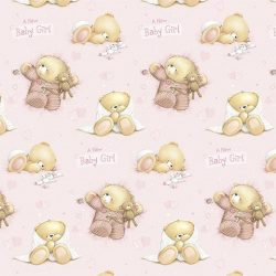 Baby Girl macis csomagolópapír 100x70cm