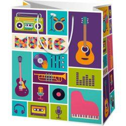 Music nagy méretű ajándéktáska 27x14x33cm