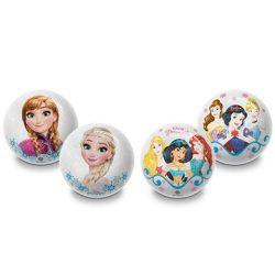 Jégvarázs vagy Disney Hercegnők mintás csillámos gumilabda 10cm