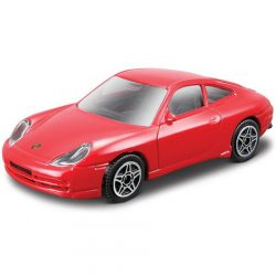 Bburago: Porsche Carrera 911 piros kisautó 1/43