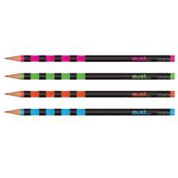 Must: HB2 ceruza radír véggel többféle változatban 1db