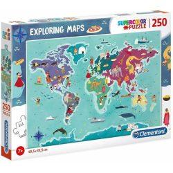 Felfedező térkép 250 db-os puzzle - Clementoni