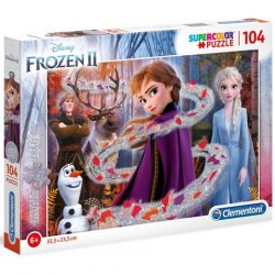Disney: Jégvarázs glitteres 104 db-os puzzle - Clementoni