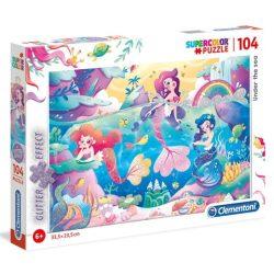A víz alatt glitteres 104 db-os puzzle - Clementoni