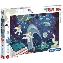 Űrbéli furcsaság glitteres 104 db-os puzzle - Clementoni