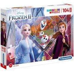 Jégvarázs 2 Anna és Elza hercegnők 104db-os Maxi Puzzle - Clementoni