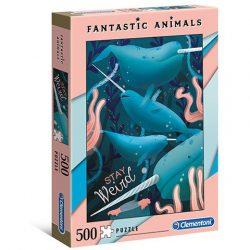 Narválok Fantastic Animals 500db-os puzzle - Clementoni