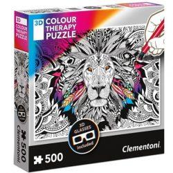 3D-s Colour Terapy színezhető 500 db-os oroszlán puzzle - Clementoni