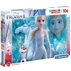 Jégvarázs 2 Elza hercegnő Supercolor puzzle 104db-os - Clementoni