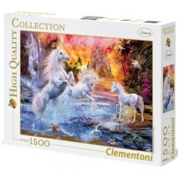 Clementoni: Vad unikornisok 1500db-os puzzle - High Quality Collection