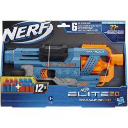 Nerf Elite 2.0 Commaínder RD-6 szivacslövő fegyver12 lőszerrel - Hasbro