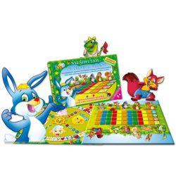 """Nyuszifutam és """"Ki nevet a végén"""" készségfejlesztő társasjáték - D-Toys"""