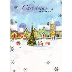 Üdvözlőkártya-Építsünk hóembert!/Simon Elvin Xmas Cards