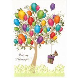 Üdvözlőkártya-Boldog névnapot! -Léggömbök Quire/Mc Classic