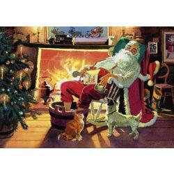 Üdvözlőkártya-Télapó a kandallónál/Amazing Christmas