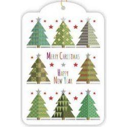 Üdvözlőkártya- Pompás Karácsonyfák/Xmas Gift Tags