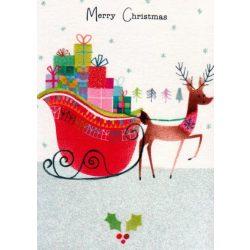 Üdvözlőkártya-Rénszarvas Karácsonyi ajándékokkal/Xmas Sweet Pie