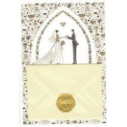 Üdvözlőkártya Esküvőre-Quire/Wish and Give
