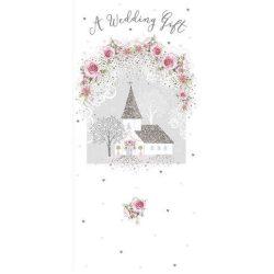 Üdvözlőkártya pénzes borítékkal-Rózsás esküvő Nigel Quiney/NQ Money Vallet