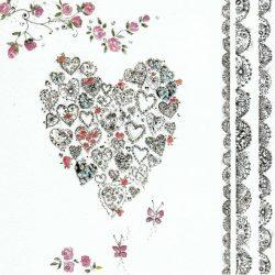 Üdvözlőkártya-Szívecskék-Paper Rose/Chantilly