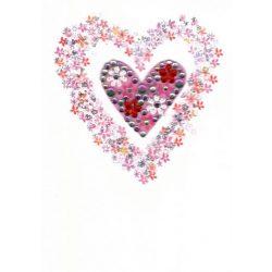 Üdvözlőkártya-Szív a szívben- Paper Rose/Daisy Patch