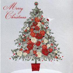 Üdvözlőkártya-Rózsás Karácsony/Pizazz Xmas