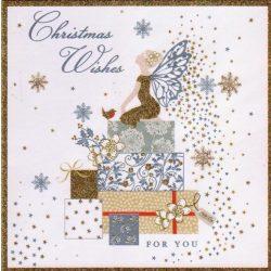 Üdvözlőkártya-Csillagos Karácsony/Pizazz Xmas