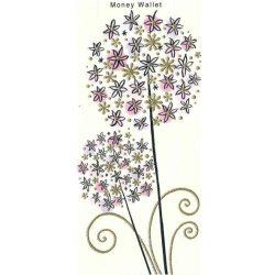 Üdvözlőkártya pénzes borítékkal- Két szál virág Paper Rose/Pr. Money Vallet