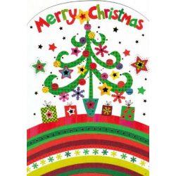 Üdvözlőkártya-Modern Karácsony/Karácsonyi - kocka