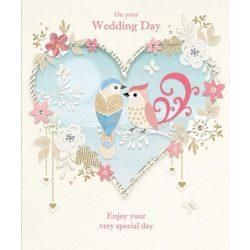 Üdvözlőkártya-Szerelmes madárkák-Paper Rose/Esküvő