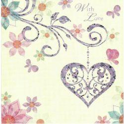 Üdvözlőkártya-Szeretettel-Paper Rose/Santa Fe