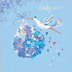 Üdvözlőkártya-Baby boy- Abacus/Lemongrass quadrat