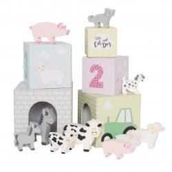 Toronyépítő kocka háziállatokkal Jabadabado