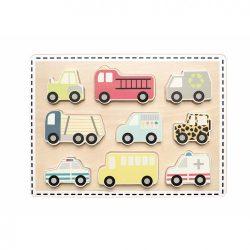 Fa puzzle Autók Jabadabado