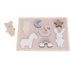 Fa puzzle Nyuszi és unikornis Jabadabado