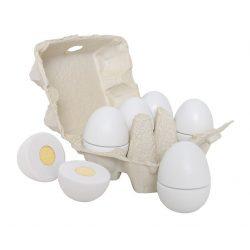 Tojástartó 6db fa szeletelhető tojással Jabadabado