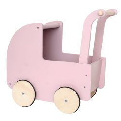 Babakocsi fából pasztel rózsaszín Jabadabado