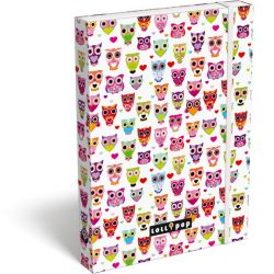 Füzetbox A/4 Lollipop White owl Lizzy Card
